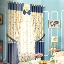 Blackout Navy Curtains Curtain Curtains For Playroom With Tie Backs 1 Pair