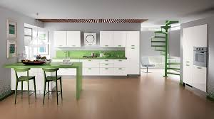 magnificent sleek green kitchen designs home design