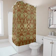 Red And Gold Damask Curtains Gold Damask Shower Curtains Zazzle