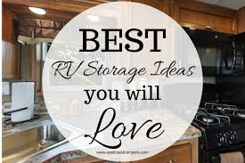 rv kitchen cabinet storage ideas easy rv storage ideas you ll east coast cers and more