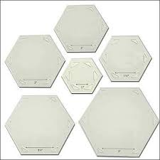 back to the basics hexagons quilt template set by come quilt with me