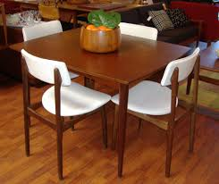 brown square teak dining room table set of awesome scandinavian