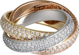 cartier rings jewelry images Crn4210700 trinity ring classic white gold yellow gold pink png