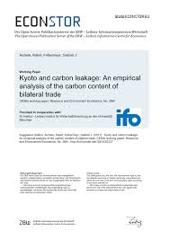 PDF Kyoto and Carbon Leakage An Empirical Analysis of the Carbon