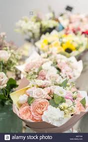 florist ta bouquets on table florist business different varieties fresh