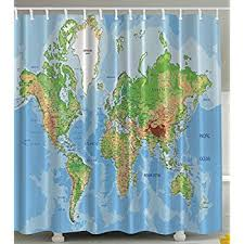 Can I Put A Shower Curtain In The Washing Machine Amazon Com Saturday Knight The World Peva Shower Curtain Home
