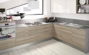 cuisine en bois gris cuisine bois gris clair moderne un mobilier de integre 5114354 lzzy co