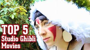 princess mononoke cosplay studio ghibli top 5 movies youtube