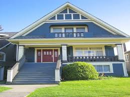 perfect exterior color schemes in blue also white color for second
