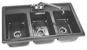 Amazoncom Moli International Three Compartment Drop In - Three compartment kitchen sink