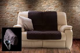 plain dye chair multi purpose furniture protector in chocolate