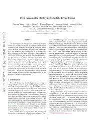 deep learning for identifying metastatic breast cancer pdf