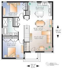 small open concept house plans w3129 v1 small affordable modern house plan with open floor plan