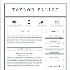 single page resume template best one page resume template