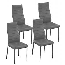 chaise de cuisine grise chaise smart gris design lot de 4 achat vente chaise cdiscount