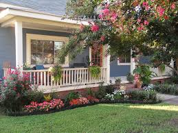 plants for front garden ideas front yard landscaping plants with pink and red flowers and blue