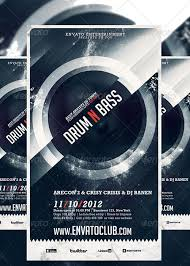 drum n bass electro music party club flyer poster template free