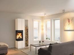 wood burning fireplace contemporary closed hearth corner