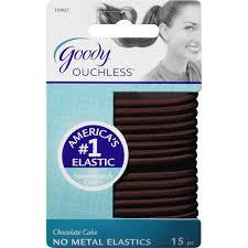 goody hair ties goody ouchless no metal hair elastics chocolate cake 10907 15