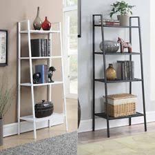 30 inch 8 tier leaning ladder shelf display bookcase storage wall