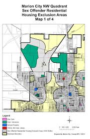 Ohio City Map City Housing Exclusion Maps The City Of Marion Ohio