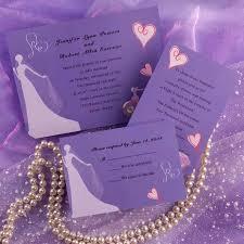 Lavender Wedding Invitations Purple Bride Image Wedding Invitations Inw132 Inw132 0 00