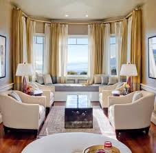 Single Sofa Designs For Drawing Room Living Room Cool Windoe Seat Decor With Cream White Curtain And