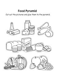 food pyramid with fruit and and other coloring pages learning