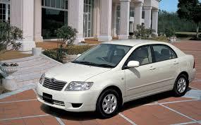 weight toyota corolla toyota corolla sedan luxel at 1 8 2004 japanese vehicle