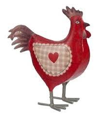 poule deco cuisine poule déco en métal 26 cm amazon fr cuisine maison