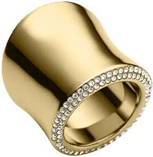 large gold rings images Michael kors michl kors golden pave large statet ring where to jpg