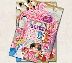 alice in wonderland birthday invitations cimvitation