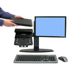 Under Desk Laptop Mount by Ergotron 33 331 085 Neo Flex Combo Laptop And Monitor Stand