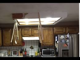 Fluorescent Kitchen Ceiling Lights How To Remove Fluorescent Ceiling Light Box