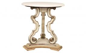Small White Accent Table White Marble Small Round Accent Table With Shabby White Painted