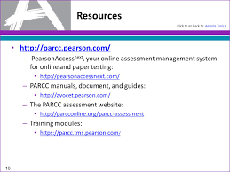 introduction to parcc training modules acronyms dictionary