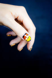 easy halloween nail art how to