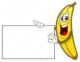 banana holding a sign u2014 stock vector yayayoyo 5661153