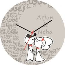 personalized clocks with pictures personalized wedding wall clocks
