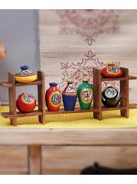 wooden wall hanging handmade wooden wall hanging with terracota pots vacwd013