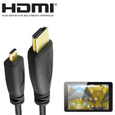 8 inch android tablet pc hdmi micro hdmi tv 5m long gold