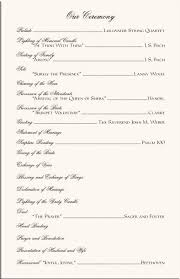 one page wedding program template one page wedding ceremony