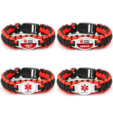 paracord braided bracelet images Diabetic bracelets outdoor camping rescue braided paracord jpg