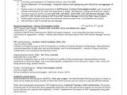 sap hana resume professional strengths sap hana and sap bw