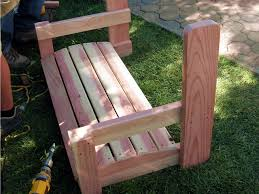 Plans For Building A Wood Bench by How To Build A Freestanding Arbor Swing How Tos Diy