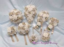beige wand wedding flowers bridesmaid f bouquet wand corsage