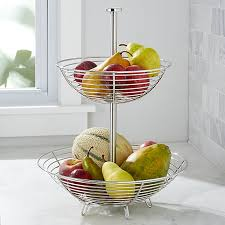 Fruit Basket Gifts Carter Stainless 2 Tier Fruit Basket Crate And Barrel