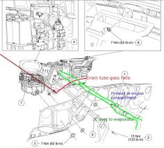 ford f 150 questions where is the ac condensate drain tube