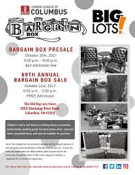 save the date for bargain box 2017 junior league of columbus