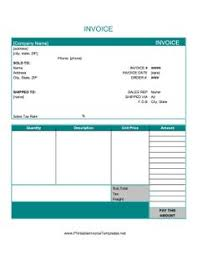 Home Health Care Invoice Template by Free Invoice Template Downloads Free Invoice Template